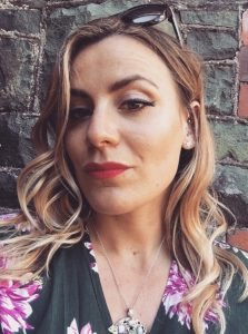 The makeup artist Maya Lewis